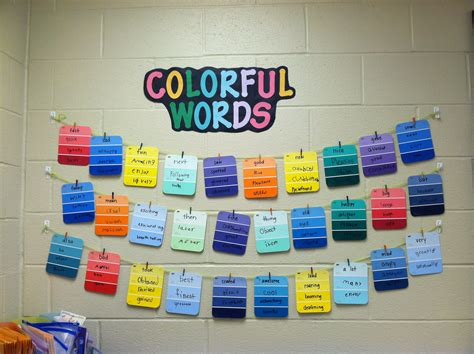 colorful synonyms quot colorful words quot synonym word wall school is cool