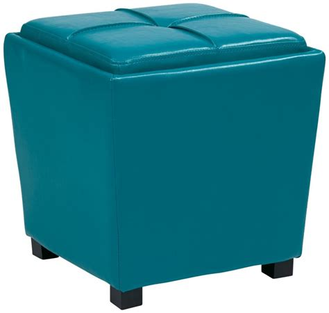 blue storage ottoman features 5 best blue storage