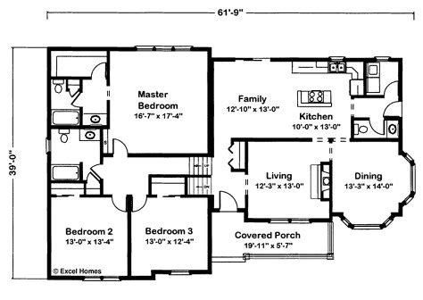 floor plan in excel timber ridge by excel modular homes split level floorplan