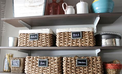 Kitchen Pantry Organization Baskets by Kitchen Pantry Reveal The Inspired Room