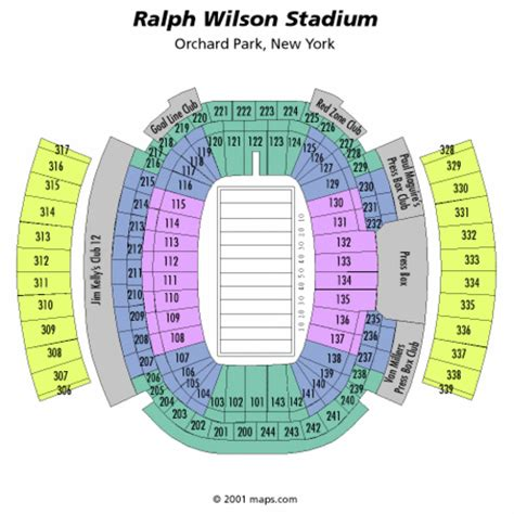 ralph wilson stadium football seating chart ralph wilson