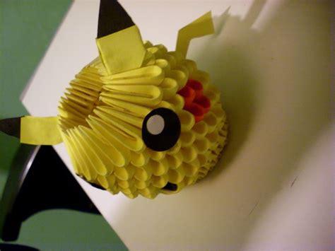 Pikachu 3d Origami - 3d origami pikachu album skong 3d origami