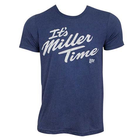 T Shirt Miller Lite miller lite s blue it s miller time t shirt