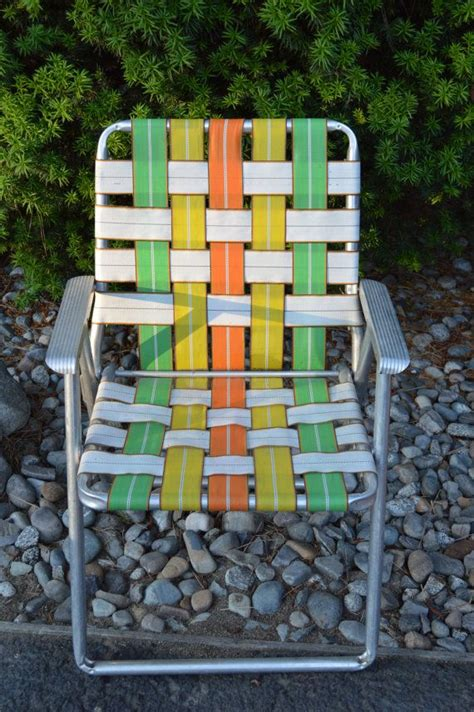 Webbed Lawn Chairs Aluminum by Vintage Webbed Lawn Chair Aluminum Webbed Lawn Chair