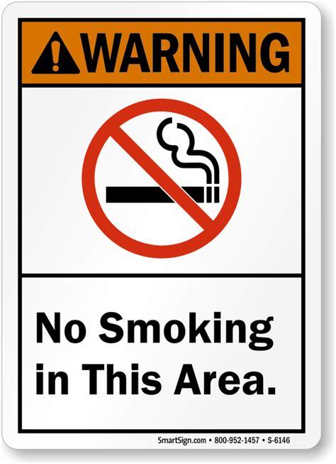 no smoking sign location ansi no smoking signs mysafetysign com