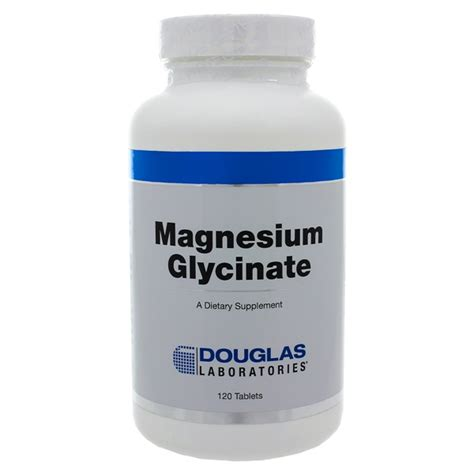 Magnesium Taurate Detox by Douglas Labs Magnesium Glycinate 100mg 120 Tablets