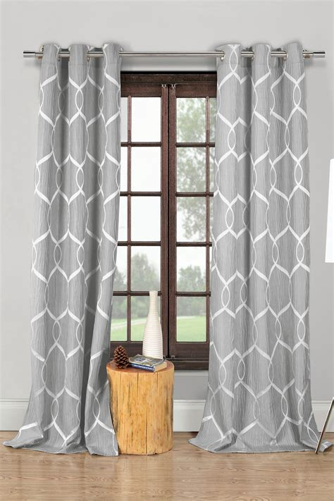 grey patterned curtains uk gray patterned curtains trene pair of grey patterned