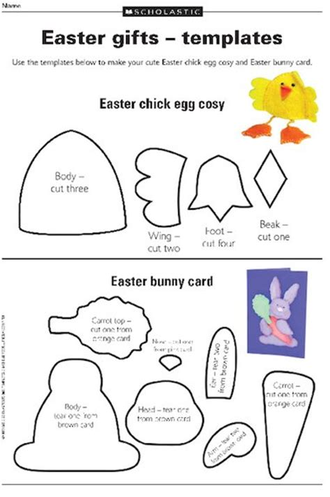 Easter Card Templates Ks2 by Easter Gifts Templates Free Primary Ks2 Teaching