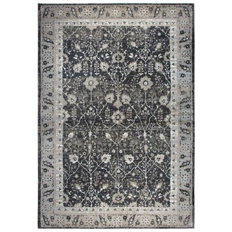Rizzy Home Panache Black 9 Ft 10 In X 12 Ft 6 In Area 6 X 12 Area Rug