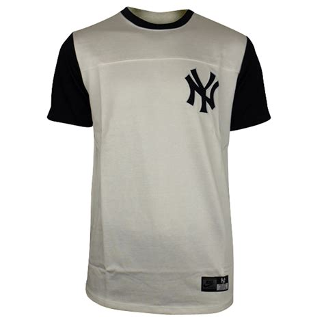 T Shirt Baseball Nike White mens nike new york ny yankees white bronx ml baseball