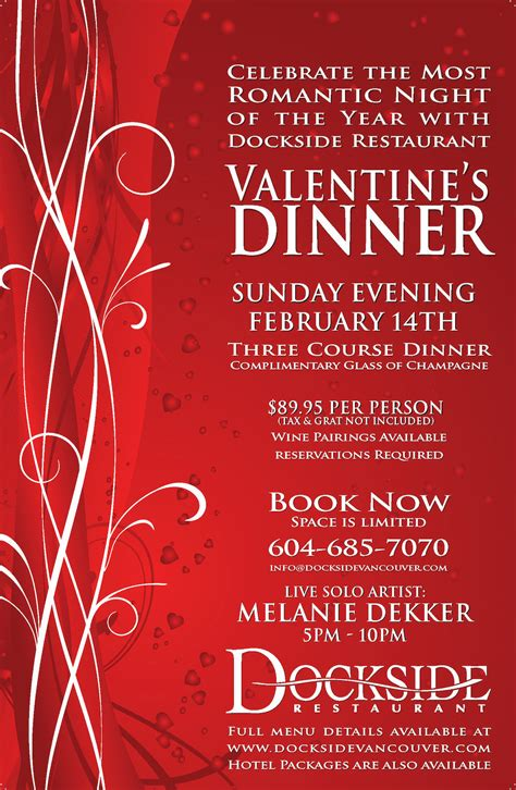 valentines restaurants celebrate s day at dockside restaurant