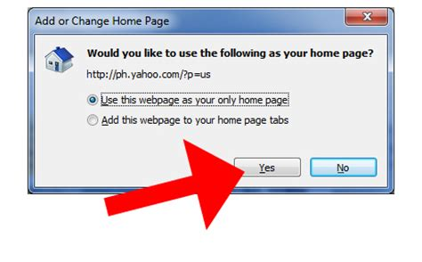 how to make yahoo your explorer home page 7