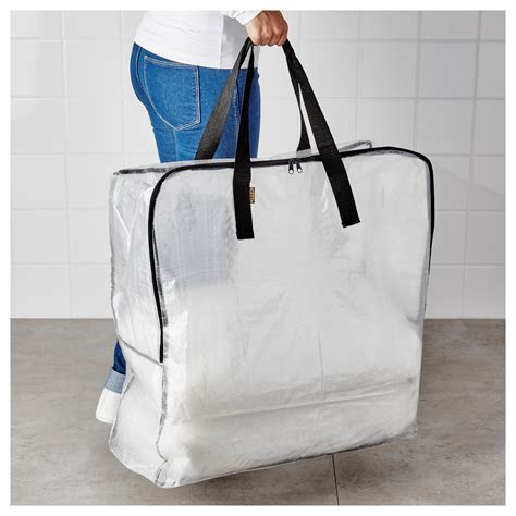 ikea bag dimpa storage bag transparent 65x22x65 cm ikea