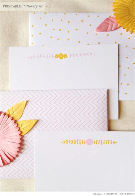 free printable stationery sets free printable stationery set from that s happy home