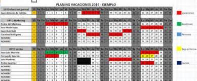 Calendario Por Semanas 2015 Excel Calendario Excel Vacaciones Por Departamento 2016 Descargar