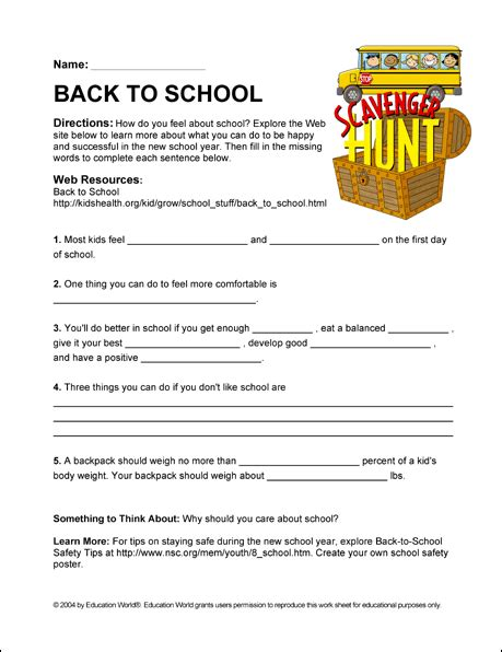 Internet Scavenger Hunt Success In The New School Year