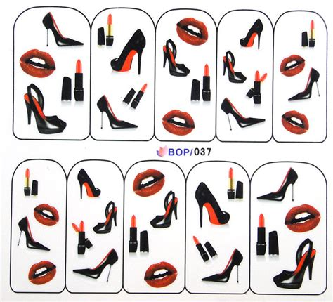 printable nail stickers paper bop 037 nail art water decal nail art water transfer sticker