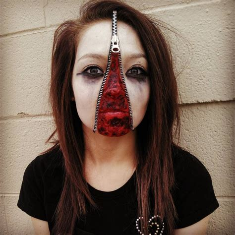 design ideas makeup 18 zipper face makeup designs trends ideas design