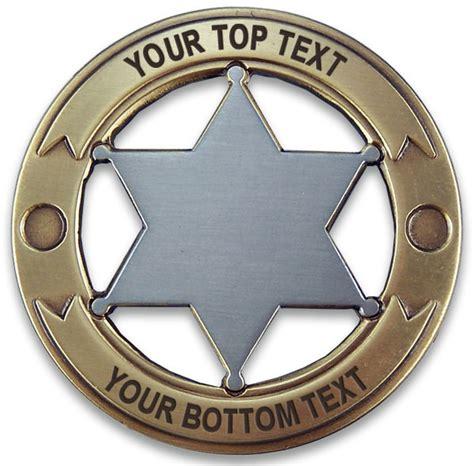 Handmade Badge - custom marshal badge west badge