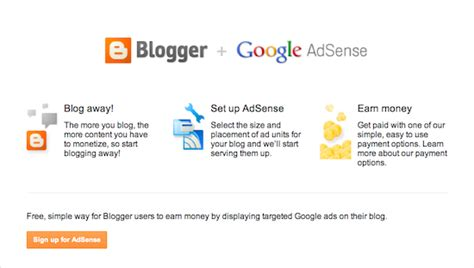 adsense overview adsense overview page with orange button