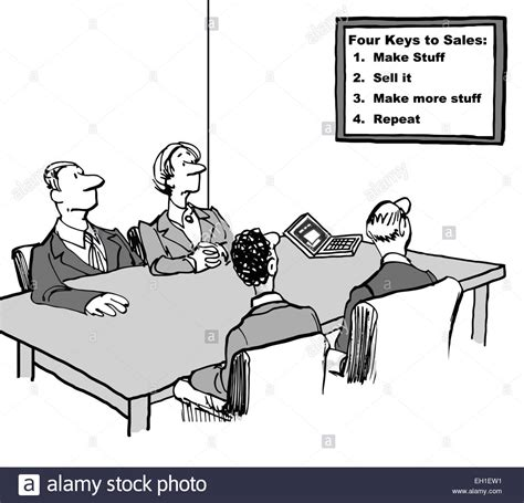 The Says by Of Business Team In Meeting And Looking At Sign