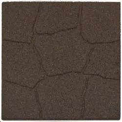 Recycled Rubber Patio Pavers Envirotile 18 In X 18 In Flagstone Earth Rubber Paver Mt5000700 The Home Depot