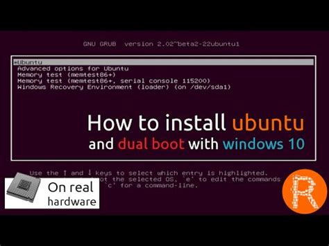Howto Install Rtai Ubuntu | how to install ubuntu and dual boot with windows 10 on