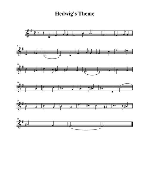 theme song sheet hedwig s theme sheet