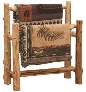 holzscheit regal cedar log quilt rack cabin decor logs