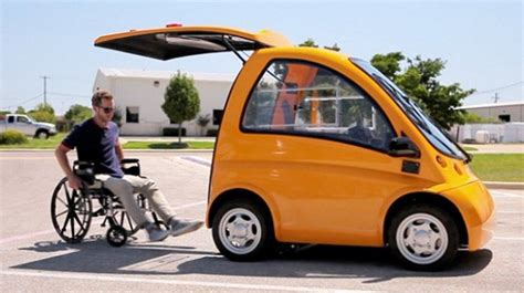 Rollstuhl Auto by Rehab Electric Car Designed By A Hungarian Company For