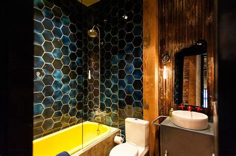 blue and yellow bathroom trendy twist to a timeless color scheme bathrooms in blue