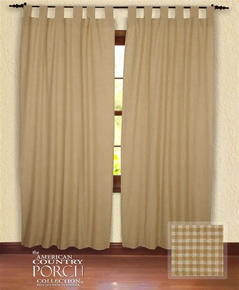 cottage window curtains cottage wheat minicheck tab top window curtain panels