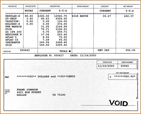 paycheck stub template microsoft word 8 check stub templates authorizationletters org
