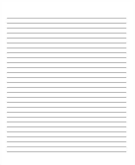 printable lined school paper 22 lined paper templates free premium templates