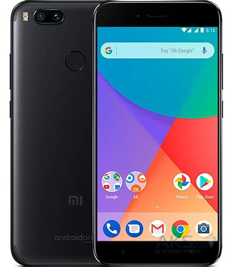 Xiaomi Mi5x 4 32 Black by мобильный телефон Xiaomi Mi A1 4 32gb Black купить в