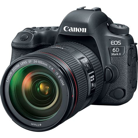 canon 6d dslr canon eos 6d ii dslr with ef 24 105mm f 4l