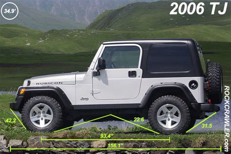 Jeep Tj Vs Jk Rockcrawler Jeep Wrangler Dimensions