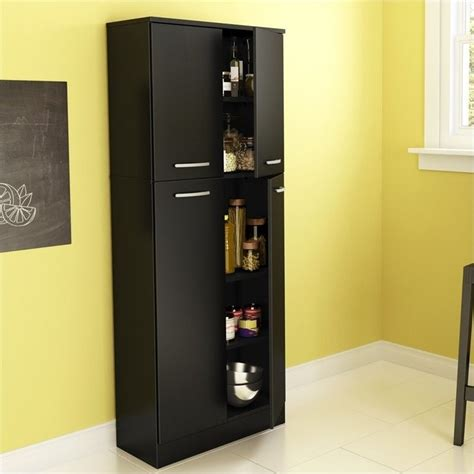 Black Pantry by South Shore Storage Pantry In Black 7170971