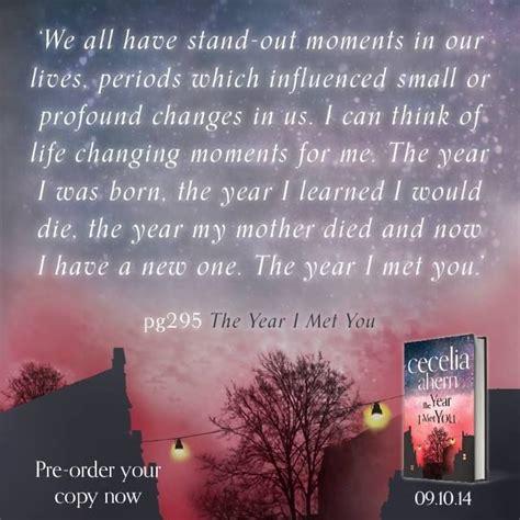 the year i met you by cecelia ahern ineke co uk the year i met you cecelia ahern books movies book quotes met