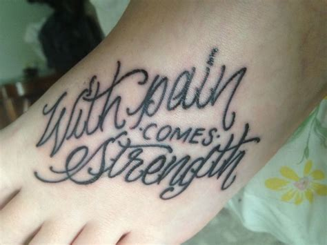 with pain comes strength tattoo with comes strength
