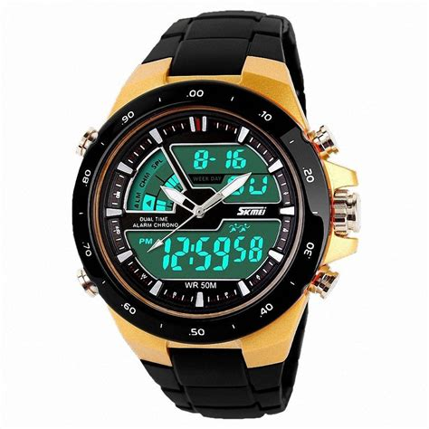 Skmei Sport 1016 Original Water Resistant 50m Gold skmei 1016 gold chronograph for buy skmei