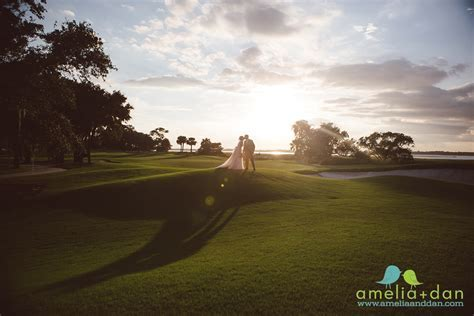 wedding at the Kiawah Island River Course Clubhouse in