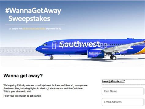 Airline Sweepstakes 2016 - the southwest airlines wannagetaway sweepstakes sweepstakes fanatics