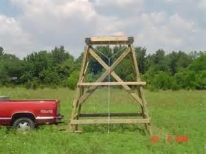 Deer Blind Platform Diy Raised Deer Platform How To Build Hunting Tree