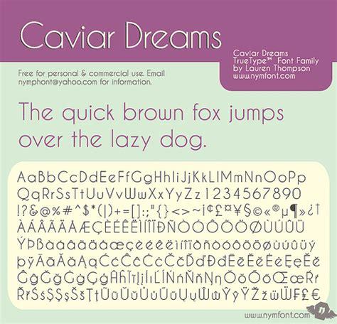 dafont raleway caviar dreams font dafont com