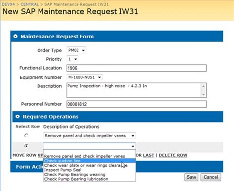 sap iw31 easily create maintenance orders with