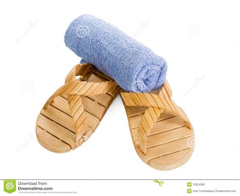 towel slippers slippers and towel royalty free stock images image 13624269