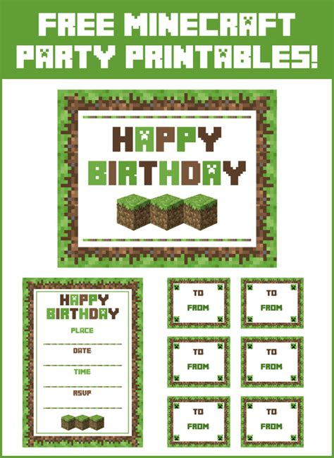 printable minecraft label minecraft party food labels printable memes