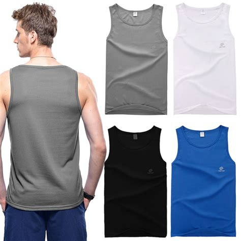 Singlet Iguana Mens Sleeveles 100 Original s casual singlet tank tops beater sports shirt slim fit sleeveless vest