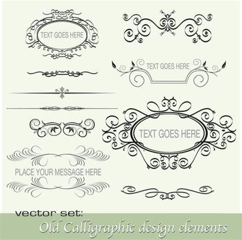 calligraphic design elements vector free 16 free vector calligraphic design elements images